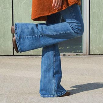 Denim? The flare jean
